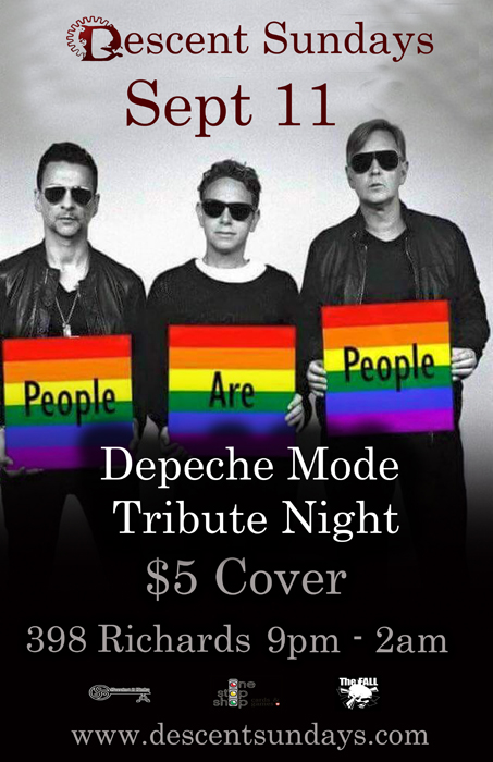 Vancouver Descent Depeche Mode Tribute Night September 11, 2016 @ The Red Room