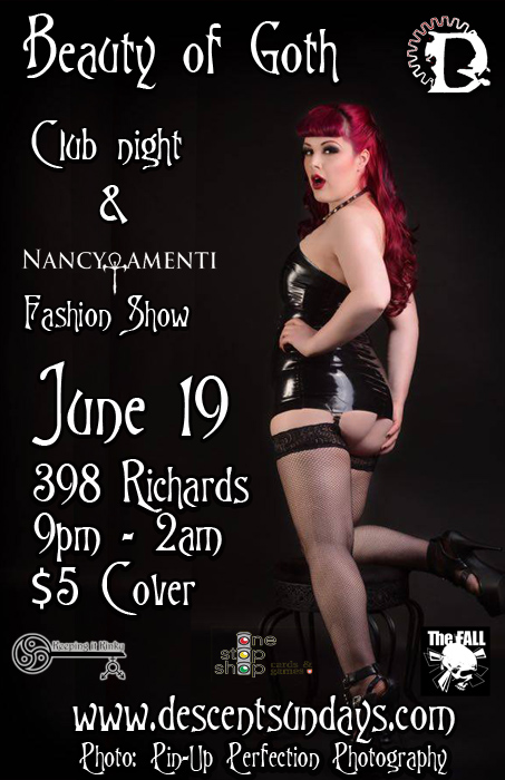 Vancouver Descent Beauty of Goth on June 19, 2016 @ The Red Room