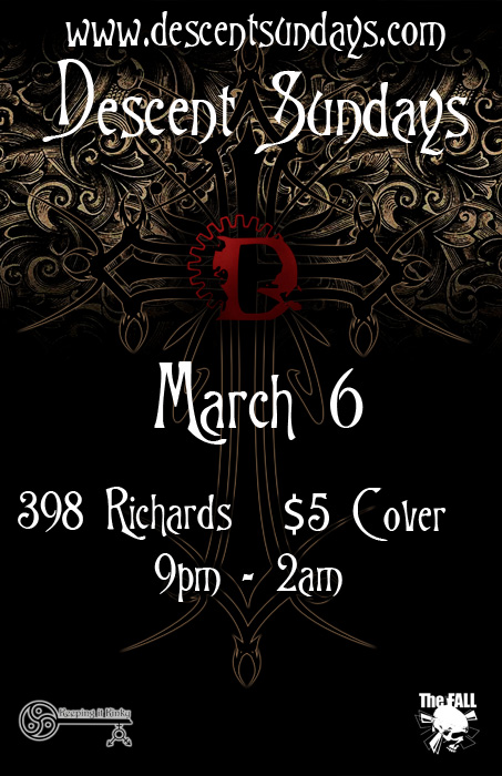 Vancouver Descent Rise From Shadows March 6 @ The Red Room