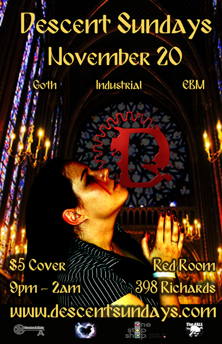 Vancouver Descent Goth Never Dies event @ The Red Room November 20, 2016