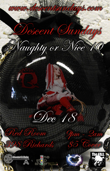 Descent Naughty or Nice 10 event poster