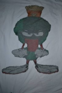 Chainmaille Marvin the Martian made by Surreal Sanguine
