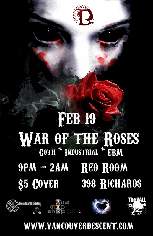 Vancouver Descent War of the Roses February 19, 2017 @ the Red Room