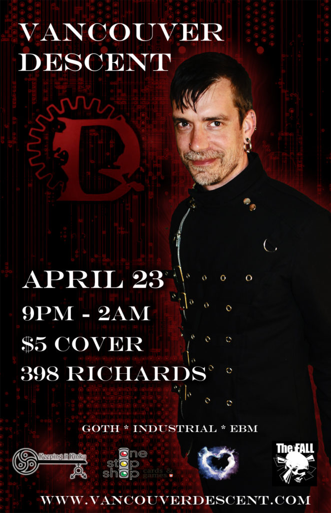 Vancouver Descent Goth Club night April 23, 2017 @ The Red Room