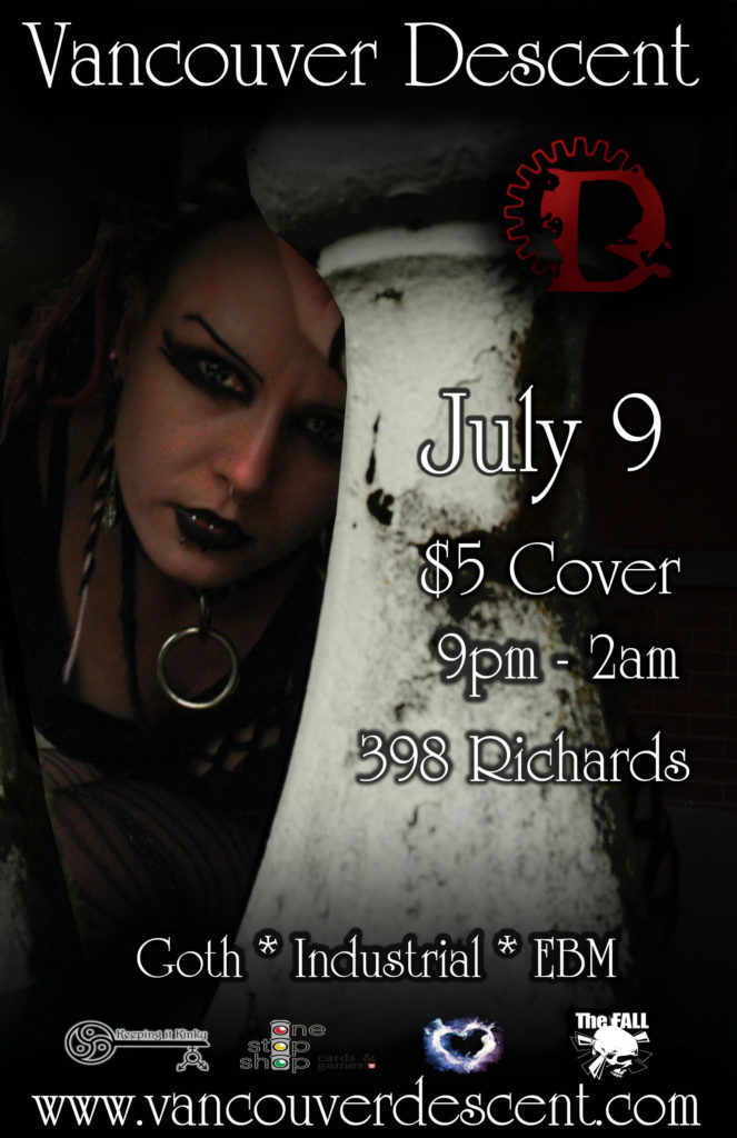 Vancouver Descent Goth in July event July 9 @ Red Room