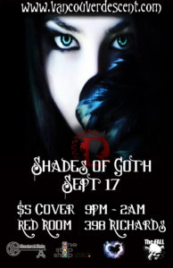 Vancouver Descent Shades of Goth @ The Red Room September 17, 2017