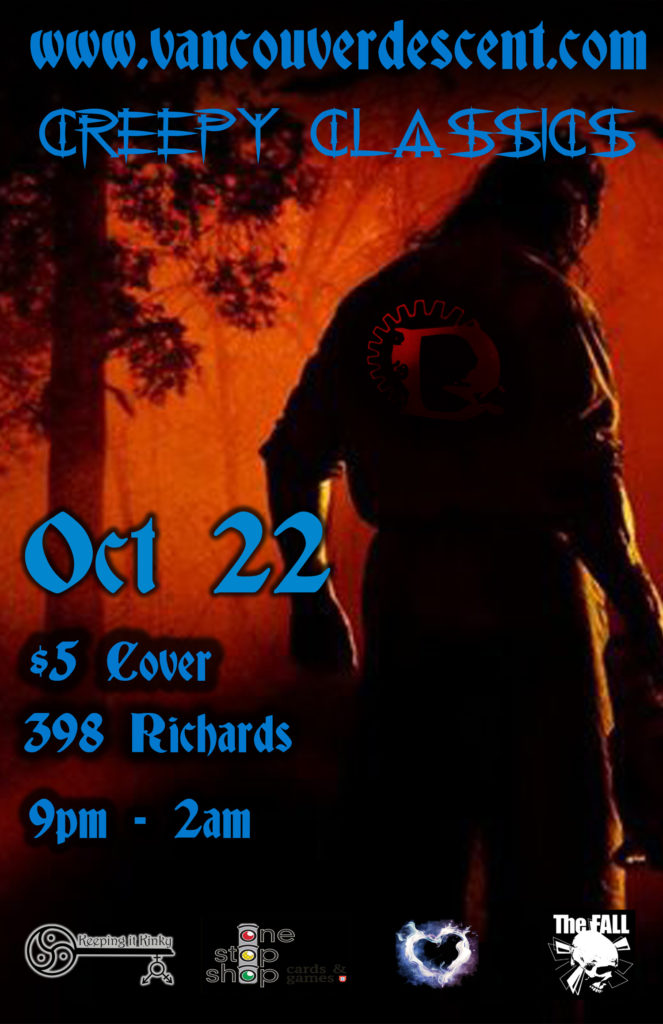 Vancouver Descent Creepy Classics Halloween Party October 22 @ the Red Room