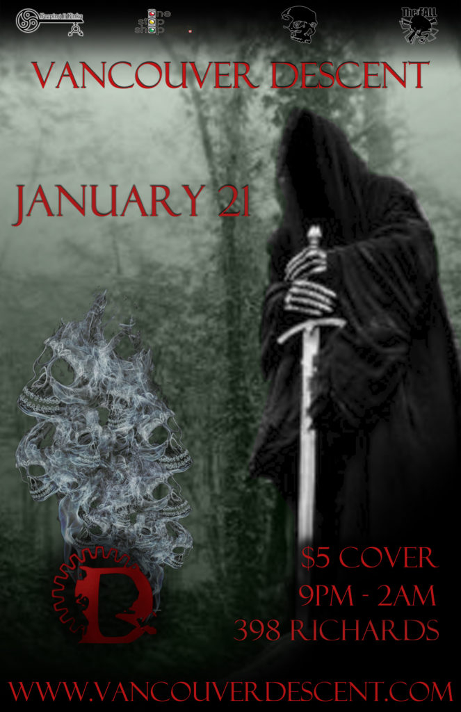 Vancouver Descent January Goth Party January 21, 2018 @ Red Room