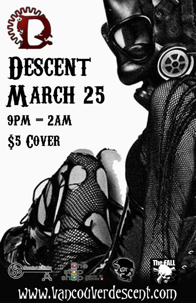 Vancouver Descent goth event March 25, 2018 @ Red Room