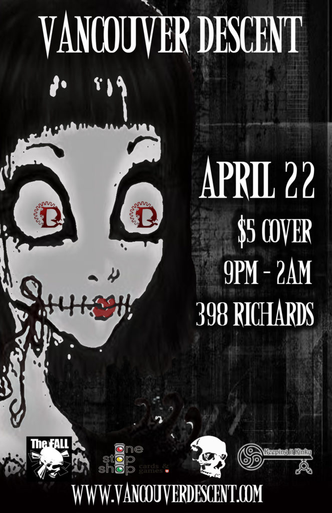 Vancouver Descent Gothic Innocence event April 22, 2018 @ Red Room