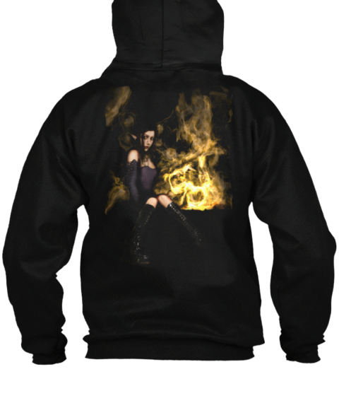 Back of Descent Elf Girl hoodie