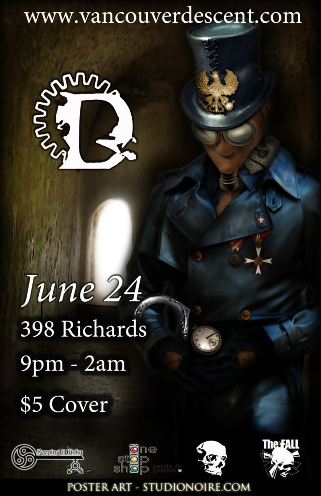 Vancouver Descent Gothic dark June event on June 24, 2018 @ red room