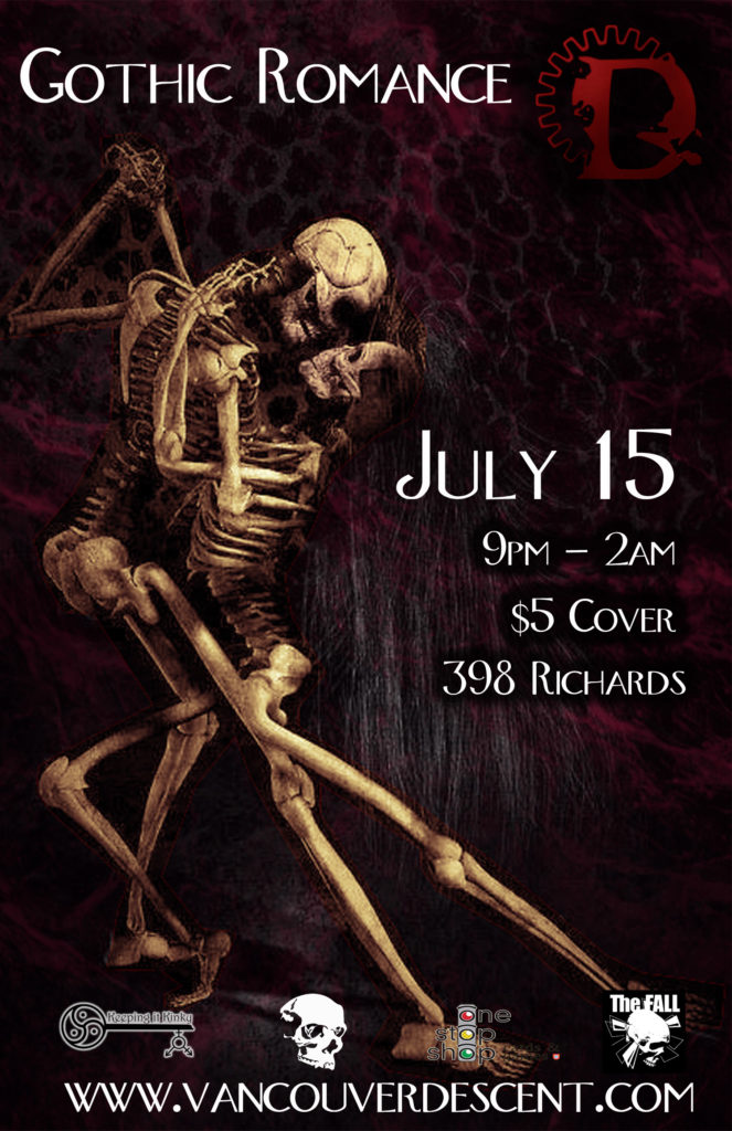 Descent Gothic Romance on July 15, 2018 @ Vancouver Red Room