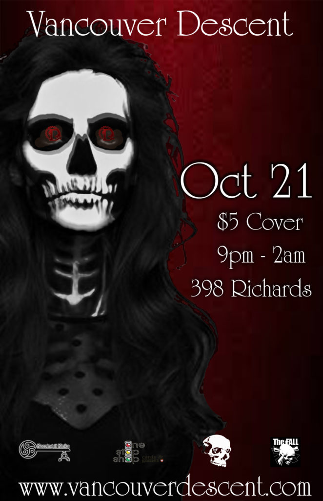Vancouver Descent Halloween Madness October 21, 2018 @ Red Room