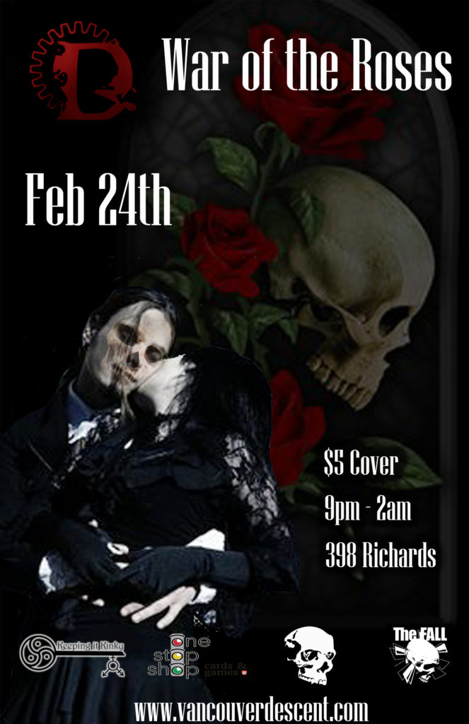 Vancouver Descent War of the Roses February 24, 2019 @ Red Room