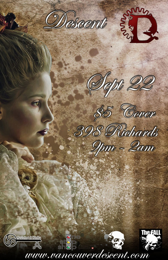 Victorian Goth event at Descent September 23, 2019 @ Red Room